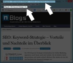 SEO: Der Title, wie er im Firefox dargestellt wird.