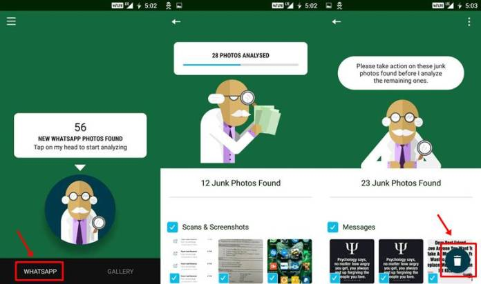 Delete the Useless Photos from your WhatsApp