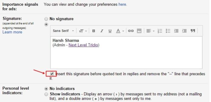 How to Add Email Signature to Gmail Account ?