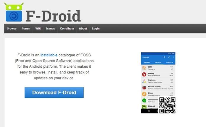 FDroid - Google Play Store Alternatives