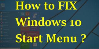 How to Solve Windows 10 Start Menu Button Not Working ?