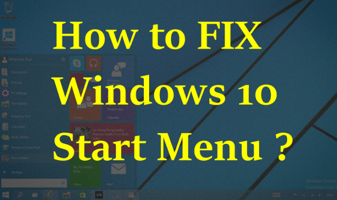 FIXED - Windows 10 Start Menu Button Not Working !