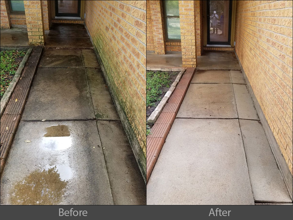 Pressure Washing Walkway