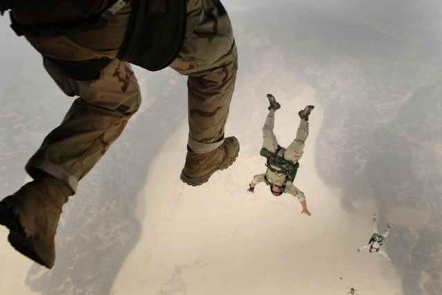 People high aerial jump