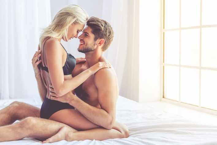 Beautiful,Passionate,Couple,Is,Having,Sex,On,BedImportance-of-Eye-Contact-in-Yab-Yum