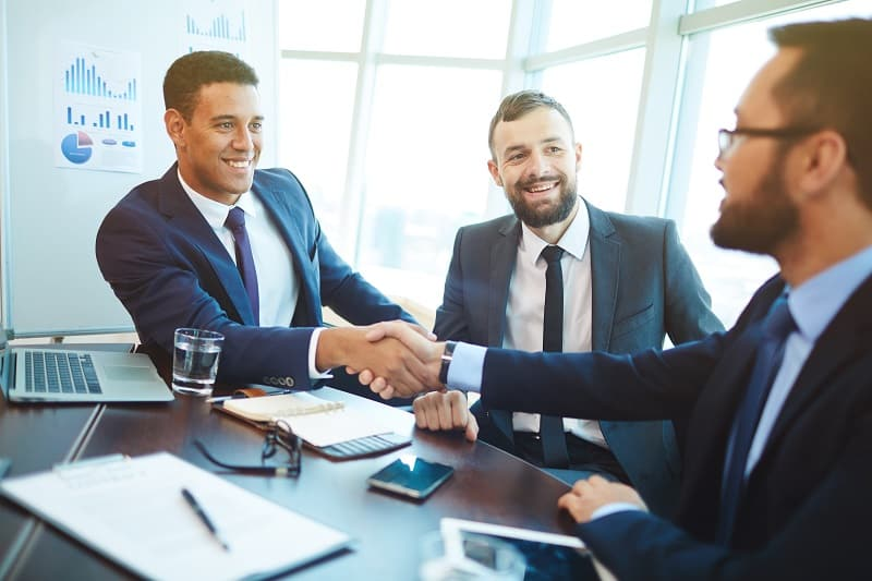 Know how to negotiate - Successful businessman