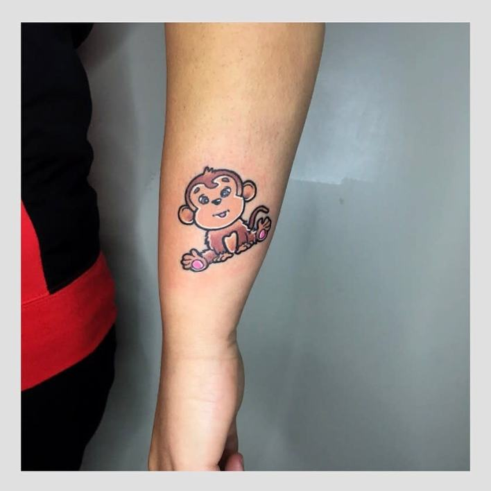 Baby Monkey Tattoo -stavros_tattooer