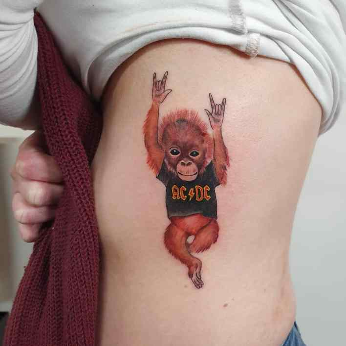 Cute Monkey Tattoo -dalriadatattoos