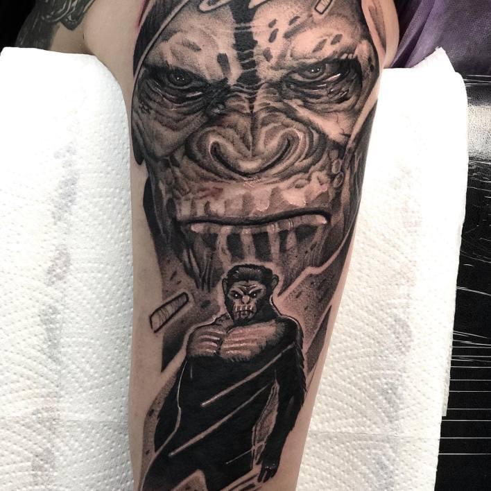 Monkey Shoulder Tattoo -zigermeister