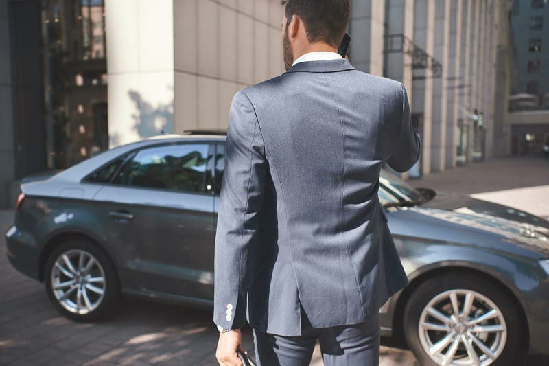Smell the leather - Successful businessman