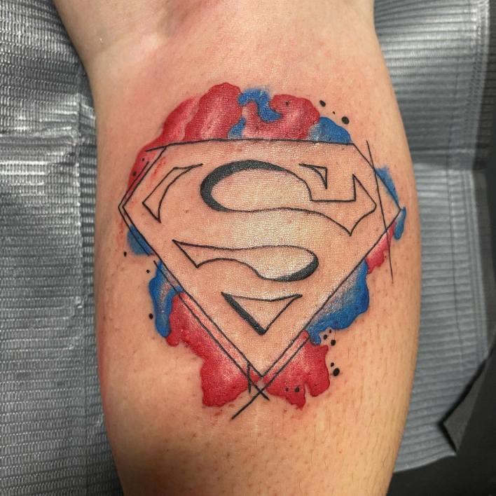 Superman Logo Tattoo -b_inked25