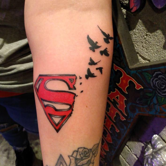 Superman Logo Tattoo -mexicaprincessart