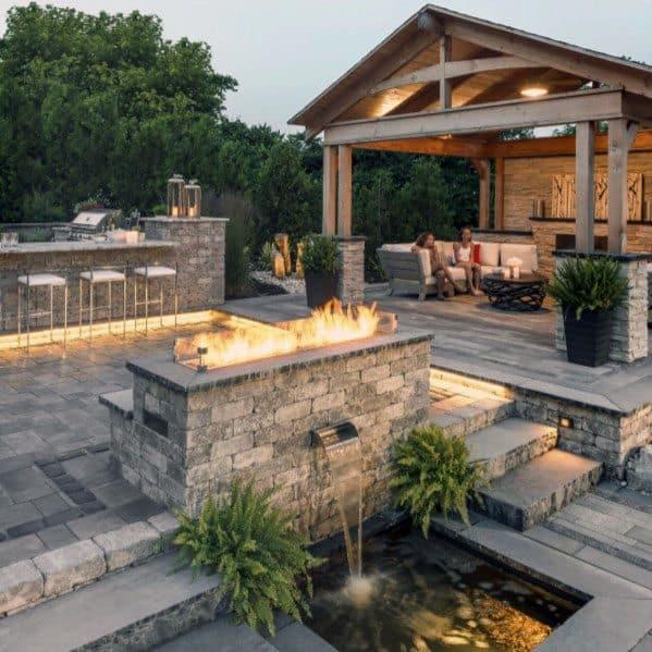back yard patio design idea Top 60 Best Paver Patio Ideas - Backyard Dreamscape Designs