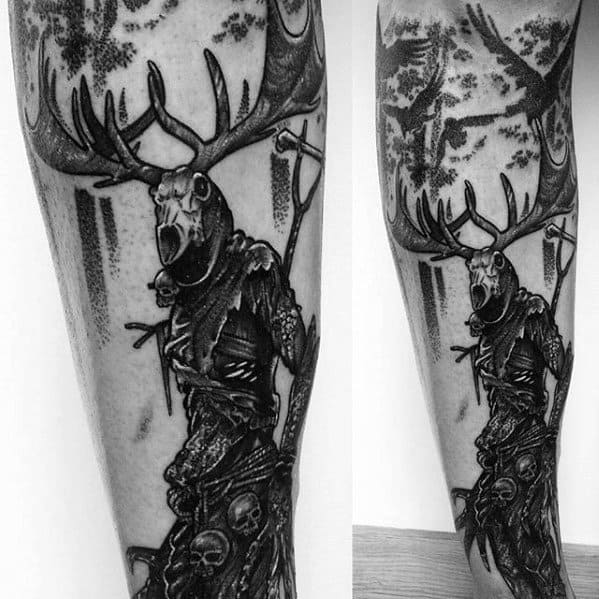 50 Skyrim Tattoo Designs For Men Video Game Ink Ideas Tattoos