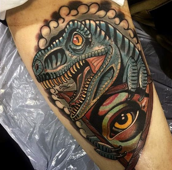 90 Dinosaur Tattoo Designs For Men Prehistoric Ink Ideas