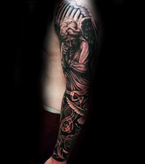 Mexican Guardian Angel Tattoos