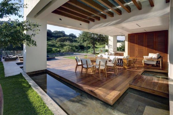 Top 60 Best Backyard Deck Ideas - Wood And Composite ... on Covered Back Deck Designs id=13454