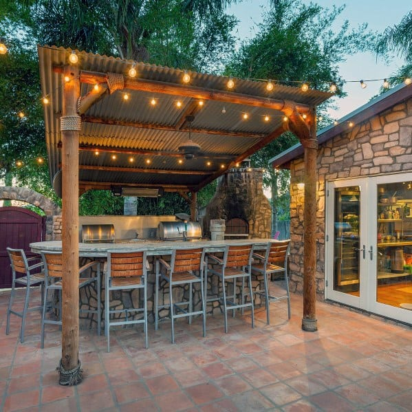 Top 40 Best Patio String Light Ideas - Outdoor Lighting ... on Outdoor Bar Patio Ideas  id=16373