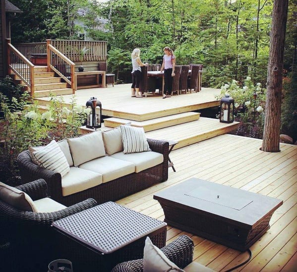 Top 60 Best Floating Deck Ideas - Contemporary Backyard ... on Floating Patio Ideas id=24094