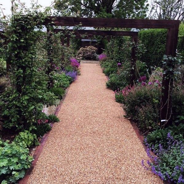 Top 40 Best Gravel Walkway Ideas - Hardscape Path Designs on Backyard With Gravel Ideas id=87620
