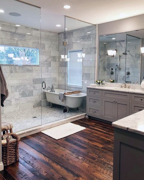 Top 60 Best Master Bathroom Ideas - Home Interior Designs on Master Bath Remodel Ideas  id=47224