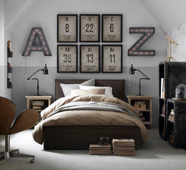 60 Men's Bedroom Ideas - Masculine Interior Design Inspiration on Guys Small Bedroom Ideas  id=75323