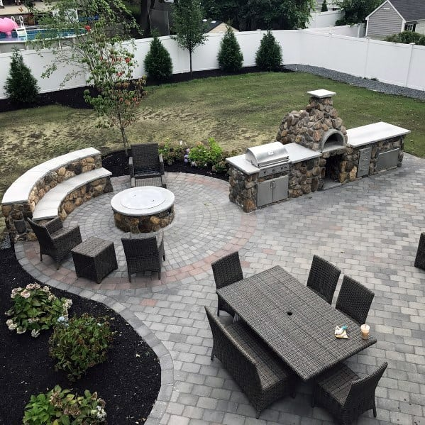 Top 50 Best Built In Grill Ideas - Outdoor Cooking Space ... on Built In Grill Backyard id=14395