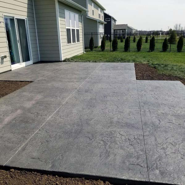 stamped concrete patio designs Top 50 Best Stamped Concrete Patio Ideas - Outdoor Space