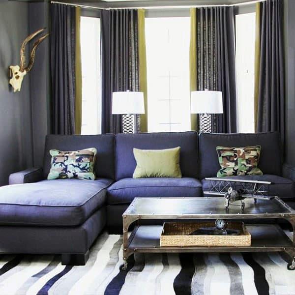 100 Bachelor Pad Living Room Ideas For Men - Masculine Designs on Bedroom Ideas For Men Small Room  id=39630