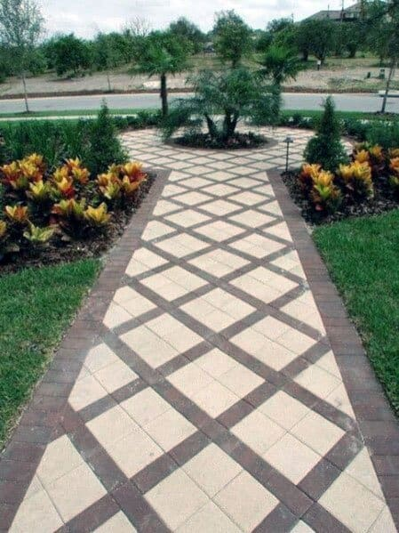 Top 50 Best Brick Walkway Ideas - Hardscape Path Designs on Backyard Walkway Ideas id=65366