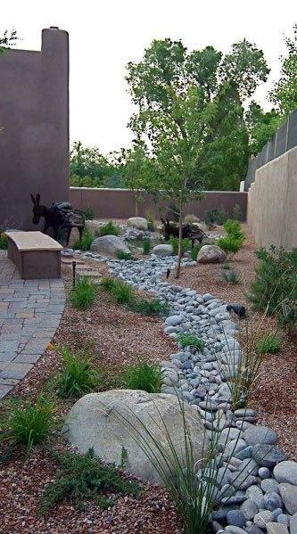 Top 50 Best River Rock Landscaping Ideas - Hardscape Designs on Backyard Rock Designs id=53414