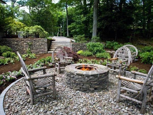 Top 50 Best Fire Pit Landscaping Ideas - Backyard Designs on Fire Pit Design  id=74183