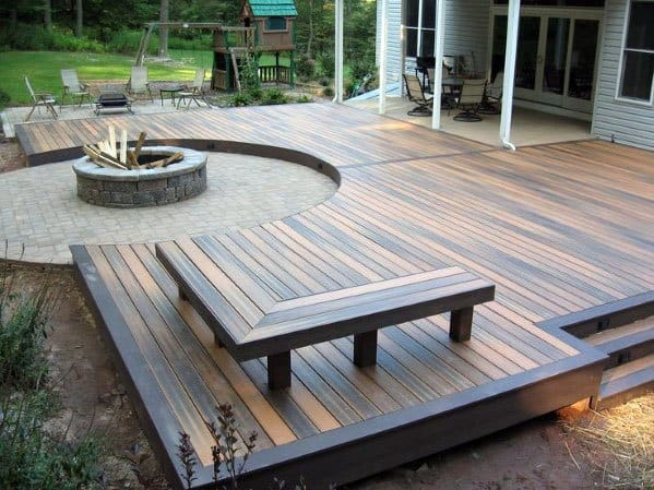 Top 60 Best Floating Deck Ideas - Contemporary Backyard ... on Floating Patio Ideas id=29559