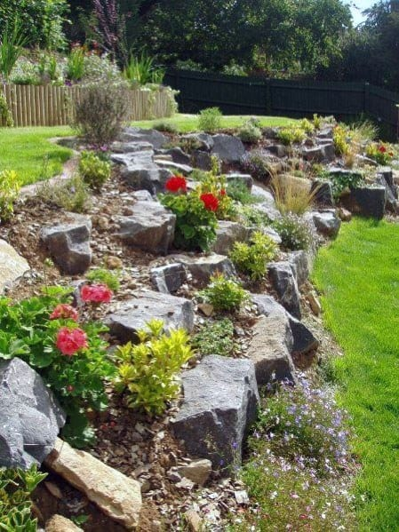 Top 50 Best Slope Landscaping Ideas - Hill Softscape Designs on Backyard With Slope Ideas  id=77885