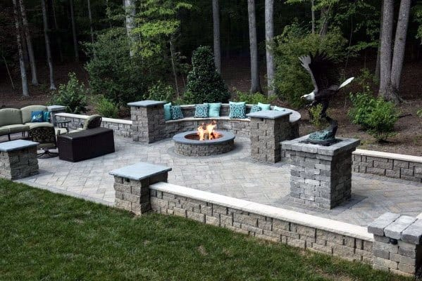 Top 60 Best Paver Patio Ideas - Backyard Dreamscape Designs on Small Backyard Brick Patio Ideas  id=76891