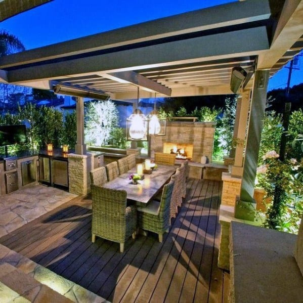 Top 40 Best Deck Roof Ideas - Covered Backyard Space Designs on Outdoor Deck Patio Ideas id=28235