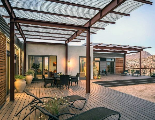 Top 40 Best Deck Roof Ideas - Covered Backyard Space Designs on Patio With Deck Ideas id=47277