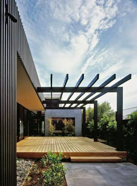 Top 50 Best Modern Deck Ideas - Contemporary Backyard Designs on Modern Backyard Patio Ideas  id=55043