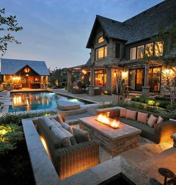 Top 60 Best Outdoor Patio Ideas - Backyard Lounge Designs on Outdoor Deck Patio Ideas id=88942
