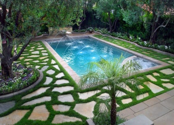 Top 40 Best Pool Landscaping Ideas - Aesthetic Outdoor ... on Backyard Pool And Landscaping Ideas id=46207
