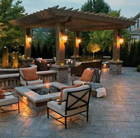Top 50 Best Stamped Concrete Patio Ideas - Outdoor Space ... on Backyard Concrete Patio Designs  id=95868