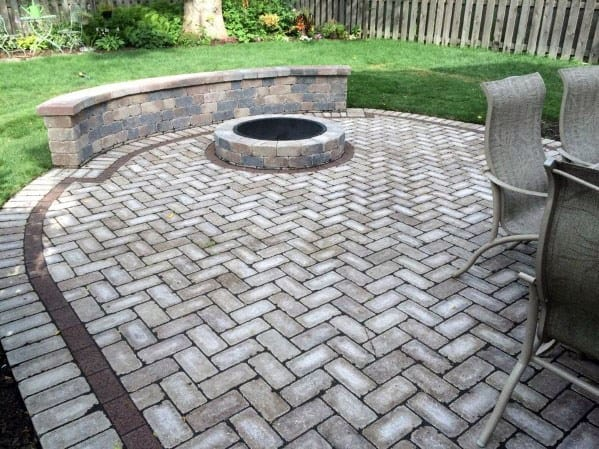 Top 60 Best Paver Patio Ideas - Backyard Dreamscape Designs on Paver Patio With Fire Pit Ideas id=73921