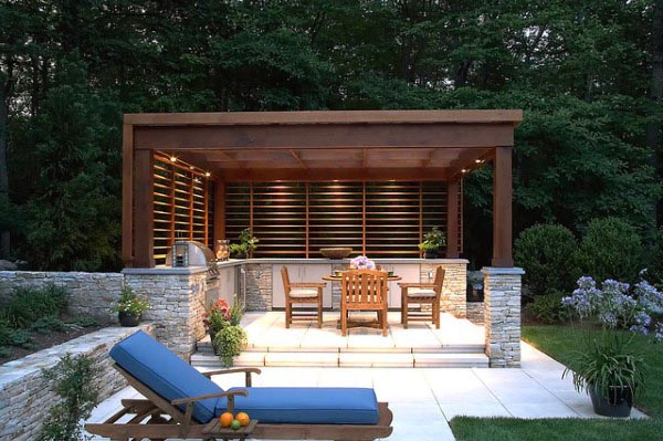 Top 50 Best Backyard Pavilion Ideas - Covered Outdoor ... on Outdoor Patio Pavilion id=92241