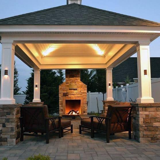 Top 50 Best Backyard Pavilion Ideas - Covered Outdoor ... on Outdoor Patio Pavilion id=37529
