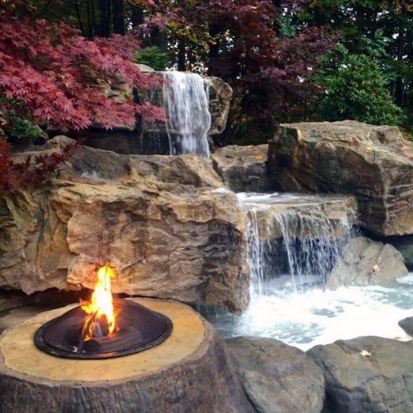 Top 70 Best Backyard Waterfalls - Water Feature Design Ideas on Front Yard Waterfall Ideas id=64366