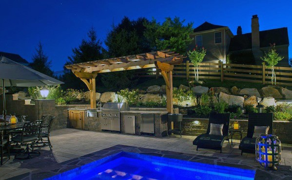 Top 50 Best Built In Grill Ideas - Outdoor Cooking Space ... on Built In Grill Backyard id=96298