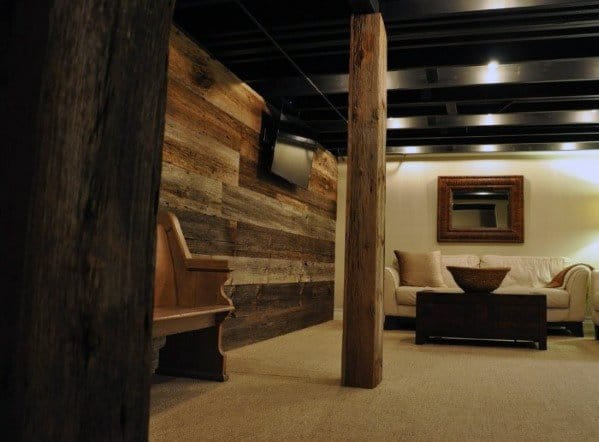 Top 50 Best Basement Pole Ideas Downstairs Column Cover