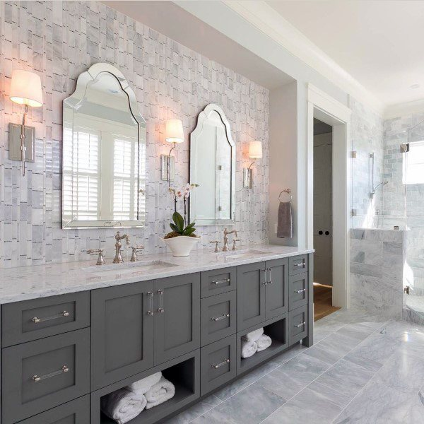 Top 50 Best Bathroom Mirror Ideas Reflective Interior Designs
