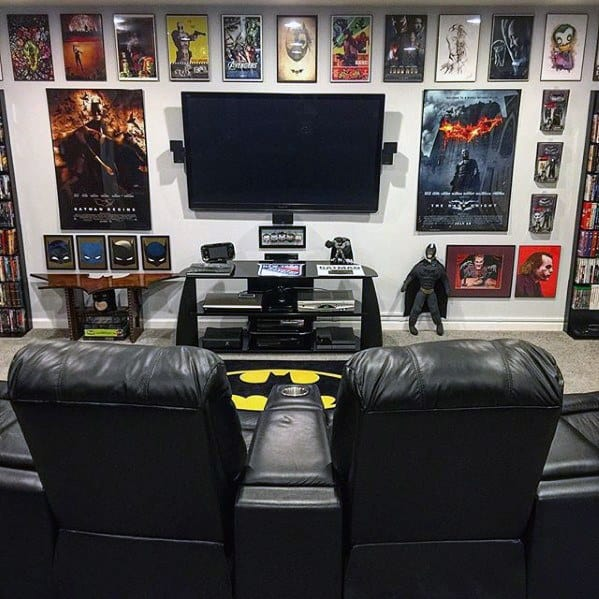 50 Gaming Man Cave Design Ideas For Men - Manly Home Retreats on Bedroom Ideas For Men Small Room  id=87024