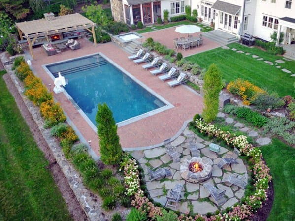 Top 40 Best Pool Landscaping Ideas - Aesthetic Outdoor ... on Backyard Pool Landscape Designs id=18807